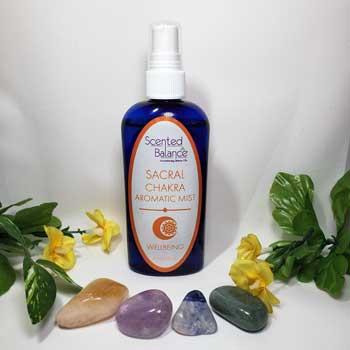 Sacral Chakra Aromatic Mist, cleanse and balance sacral chakra