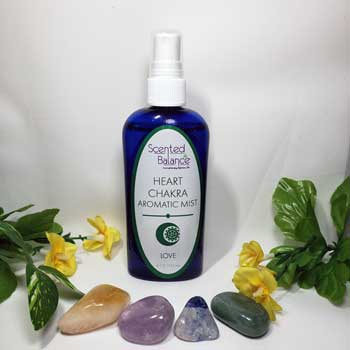 Heart Chakra Aromatic Mist, cleanse and balance your heart chakra