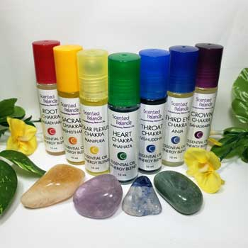 Chakra Rollerball Set, essential oil rollerball, subtle energy system
