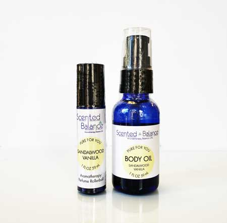 Sandalwood and Vanilla Body Oil Set