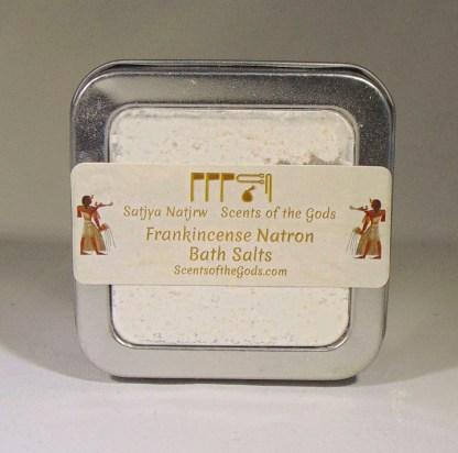 Frankincense Natron Bath Salts 4oz Top