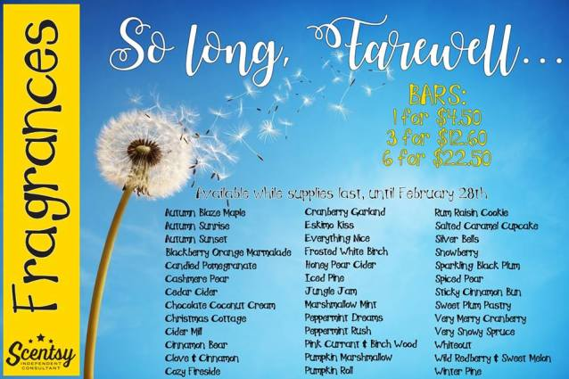 retired scentsy scents 2017