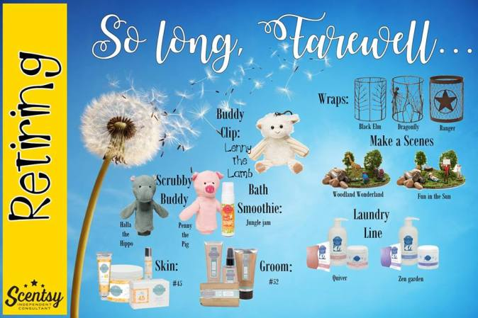 Scentsy Retired List 2017