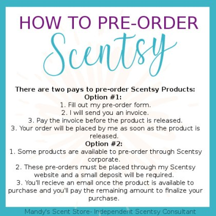 how to pre order scentsy