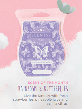 Scentsy Rainbows & Butterflies Scent July 2018