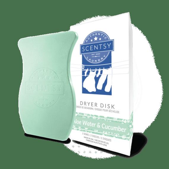 scentsy dryer disks aloe water cucumber