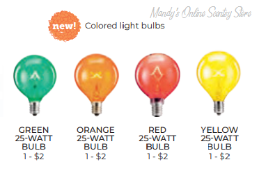 COLOR SCENTSY BULBS
