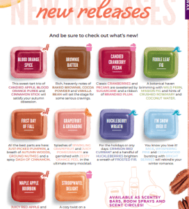 New Scentsy Fall Winter 2019 New Release Fragrances