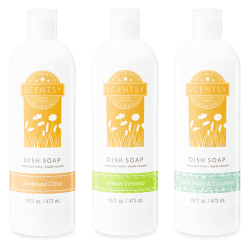 3 pack scentsy dish soap
