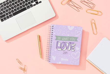 "photo of a ""do what you love"" 2019 planner on a desk"