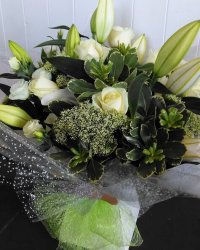 Pure White Hand Tied