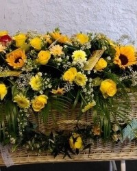 Sunflower Casket Spray