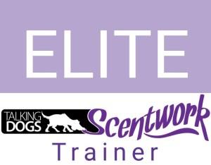 talking dogs scentwork elite trainer logo