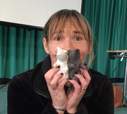 Denise Fenzi with scentwork mice