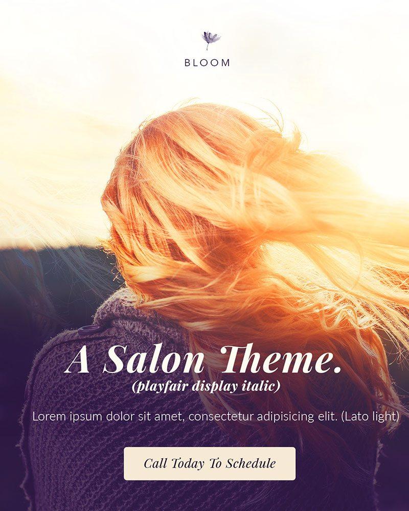 A Salon Theme