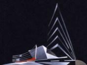 Design for Cardiff Opera House, Zaha Hadid, 1994
