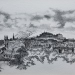 A panorama of Edinburgh in many shades of grey, by John Knight