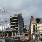 Demolishing St James Square – dramatic image of destruction