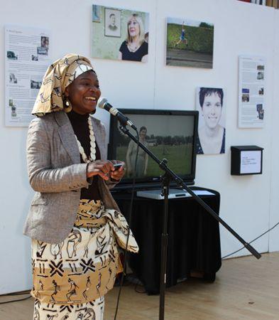 Agnes Holmes at Jock Tamson's Bairns exhibition Edinburgh 2012