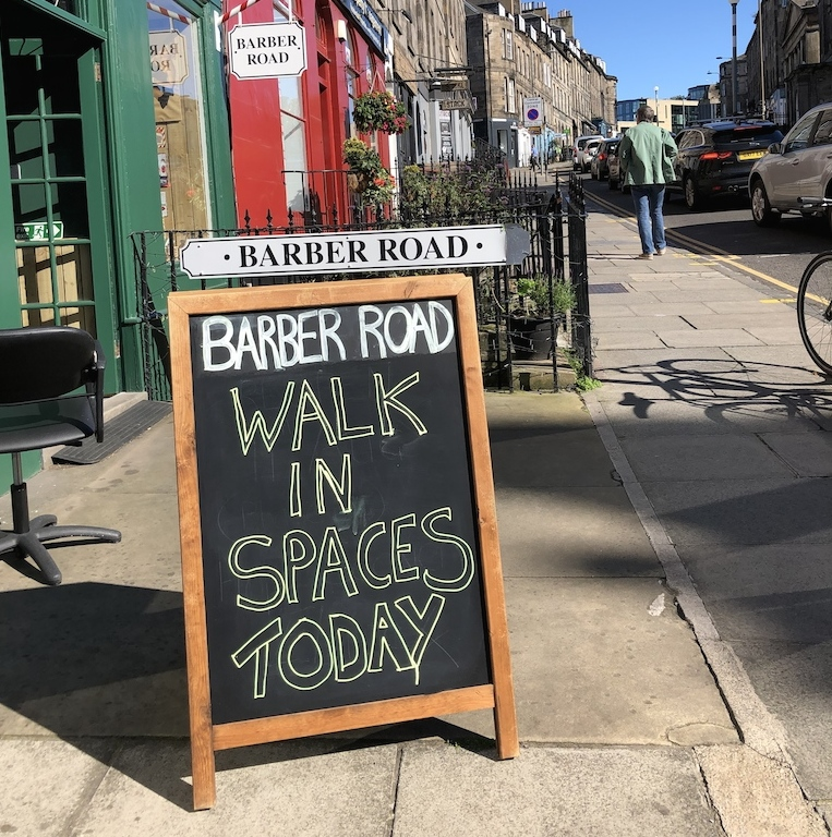 Barber shop in Broughton Street welcomes walk in customers