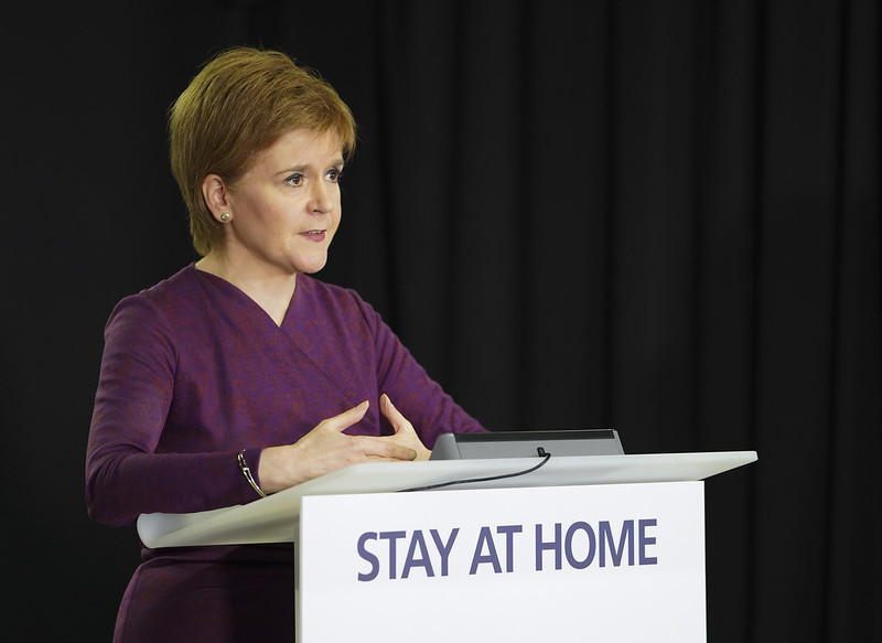 First Minister Nicola Sturgeon at COVID-19 press conference - 14 May 2020. CC by 2.0