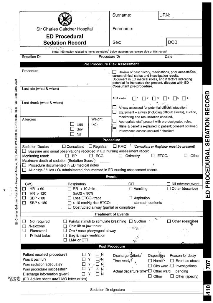 Procedural sedation record pg1
