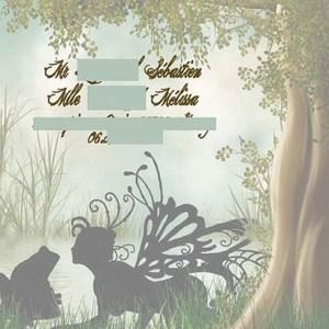 faire-part mariage foret enchanté fée rencontre surprenante