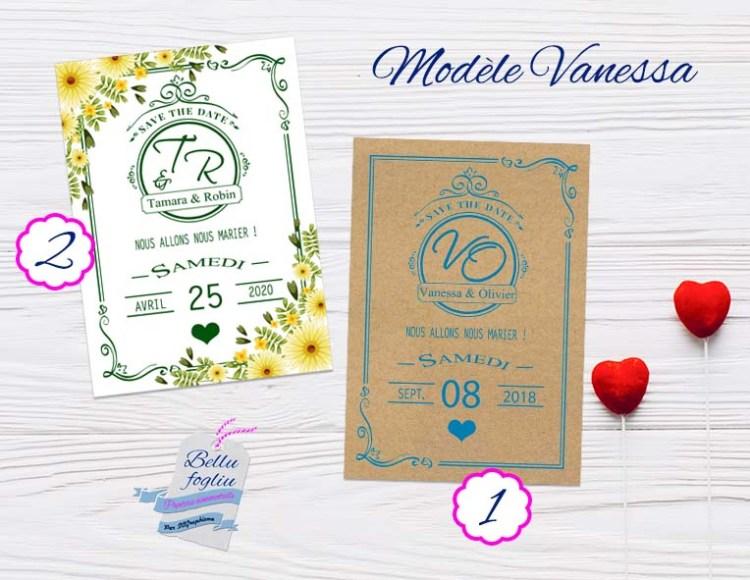 save the date mariage fleur et kraft