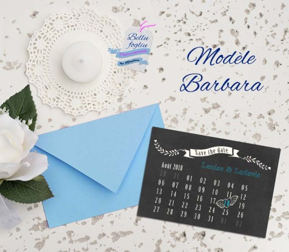 save the date mariage calendrier