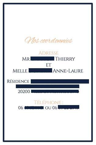 faire-part mariage pochette ciselée bleu navy rose orange