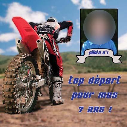 faire-part bapteme moto motocross