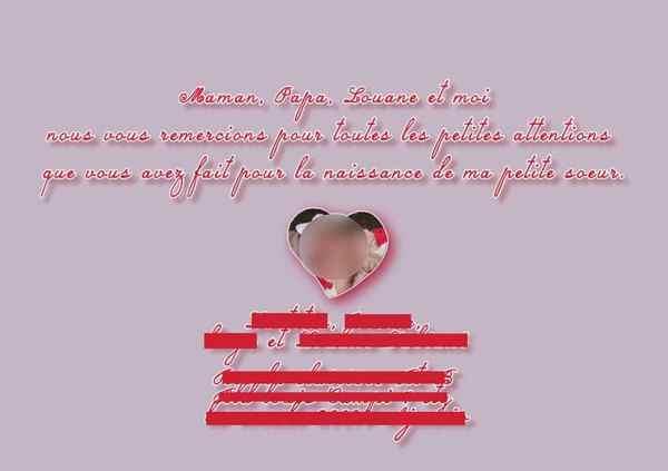 Faire-part naissance rose arbre coeur coccinelle