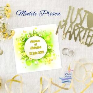 faire-part mariage fleurs marguerite printemps
