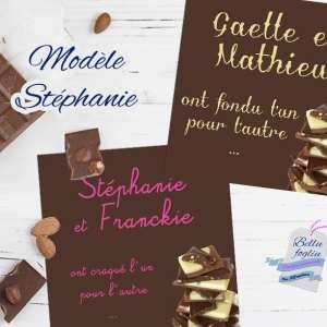 faire-part mariage chocolats
