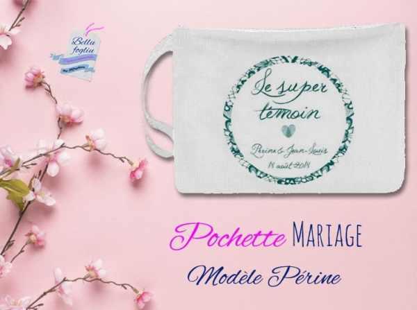 pochette personnalisable mariage témoin
