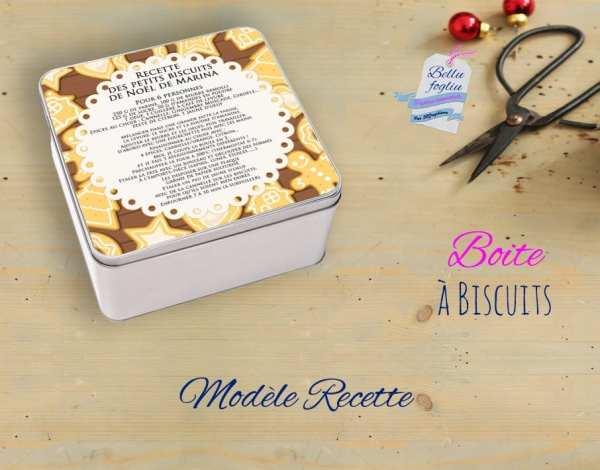 boite a biscuits carre recette cuisine noel sablé