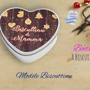 Boite biscuits coeur biscuttinu maman mamma sablé noel