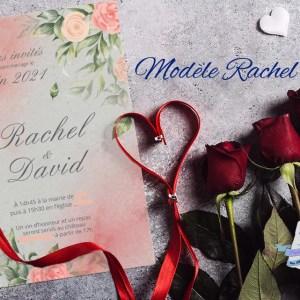 faire-part mariage transparent calque fleurs rose