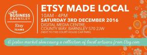 Banner advert for Crafty Business, Barnsley