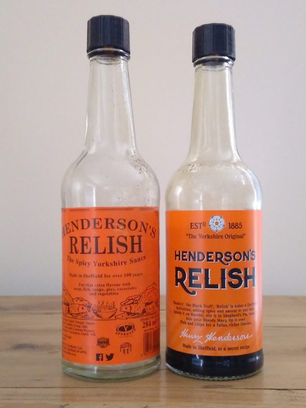 Henderson's Relish old v new