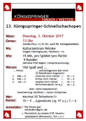 KSP- Hagen Schnellschach Open
