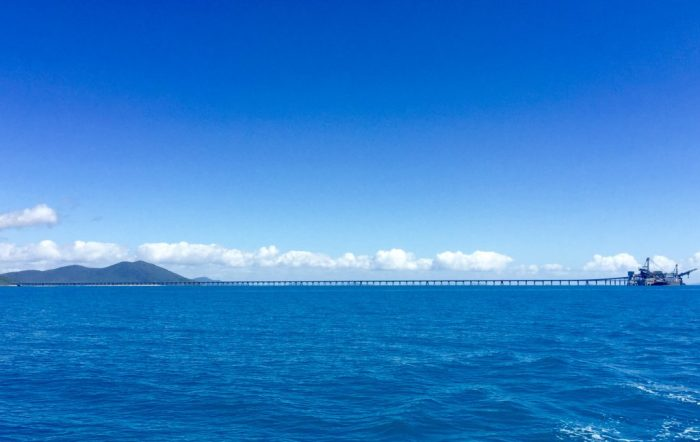 Passing the Abbot point coal loader on the way back.