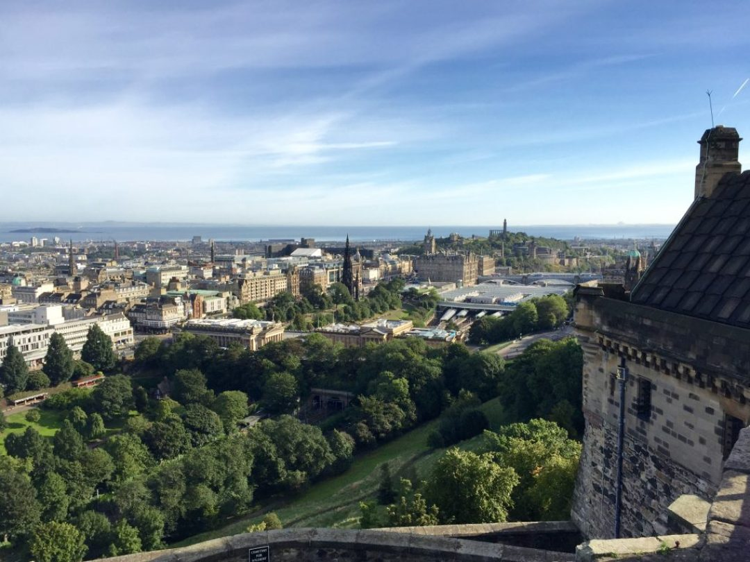 Edinburgh: View from the castle.
