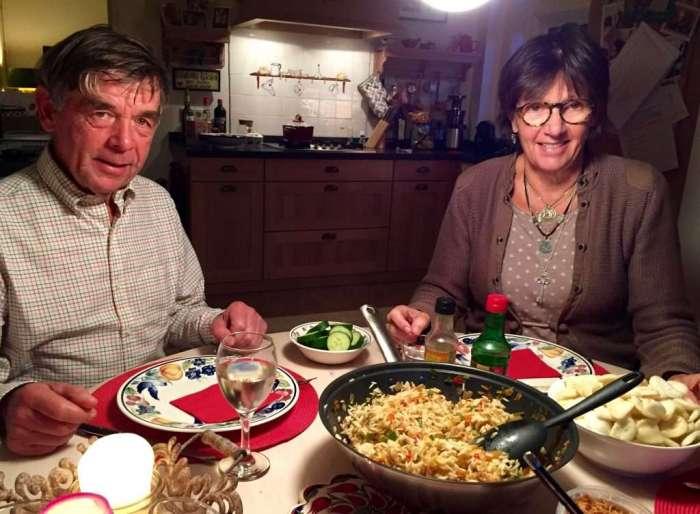 Florence's excellent Nasi Goreng dinner.