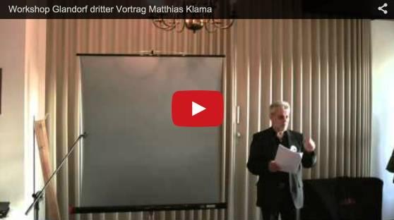 der 3. Vortrag vom 21.1.2015 in Glandorf, Matthias Klama
