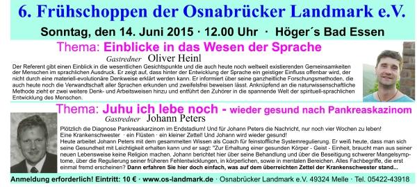 6. Frühschoppen Osnabrücker Landmark Sonntag, den 14.06.2015