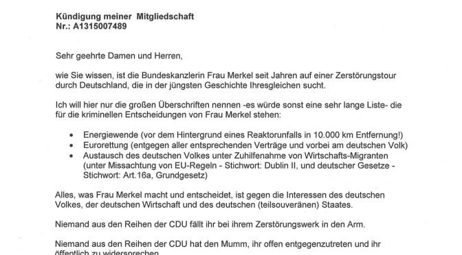 Der CDU läuft die Basis weg