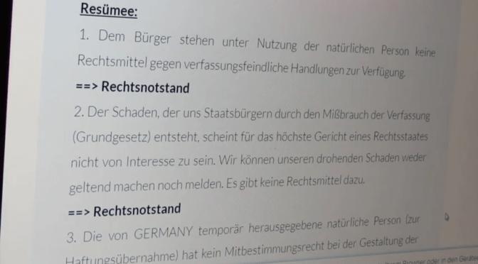 Haftung und Versicherung der Treuhandverwaltung BRaD Teil 2 … was WIR jetzt tun können!