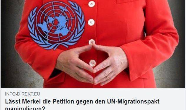 BEWEISSICHERUNG Petition 85565 (UNO) – Global Compact for Migration