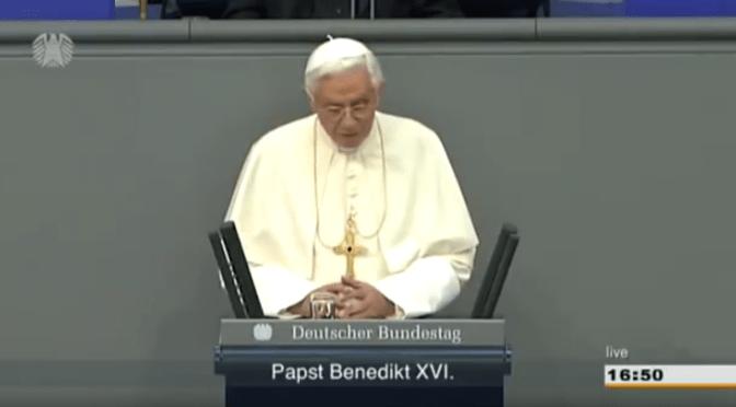 Versteckte Botschaften an die DEUTSCHen – Papst Benedikt über Räuberbanden und alles was Recht ist!